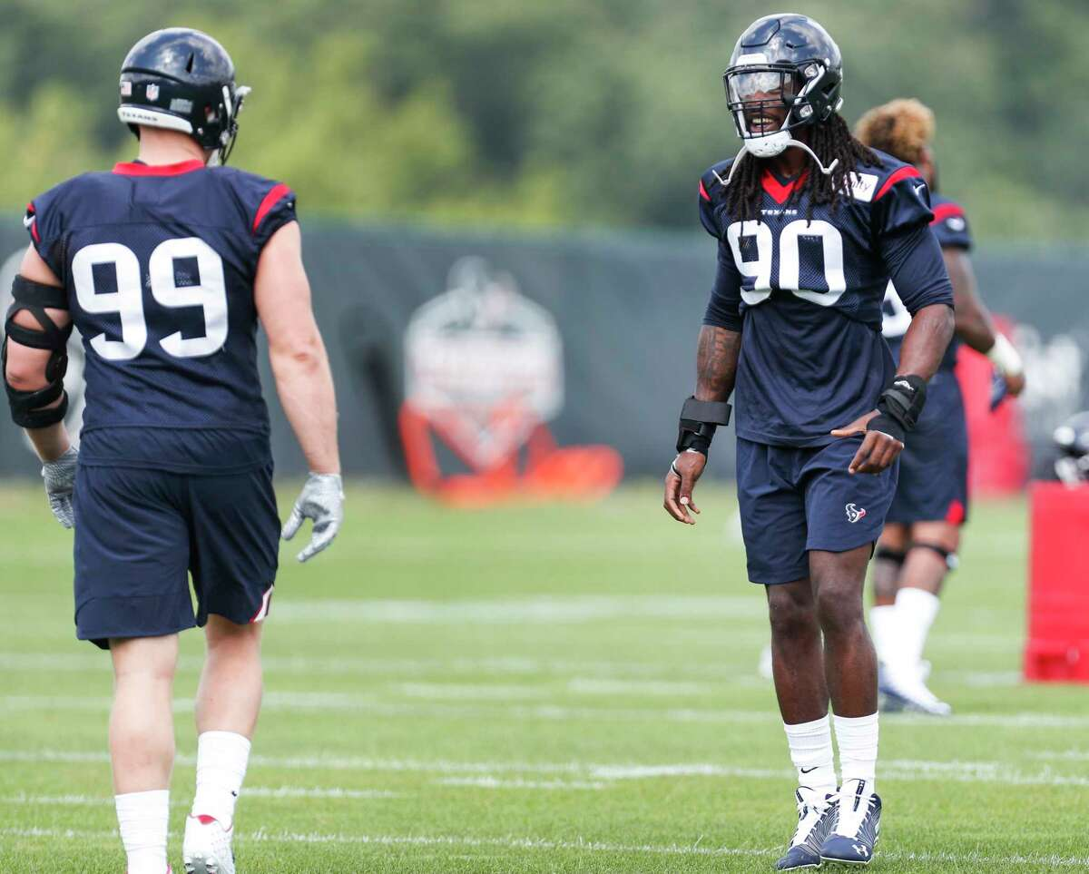 Jadeveon Clowney (right) and J.J. Watt have yet to play in the preseason. If they do see exhibition action, it'll likely be Saturday afternoon in Los Angeles against the Rams.