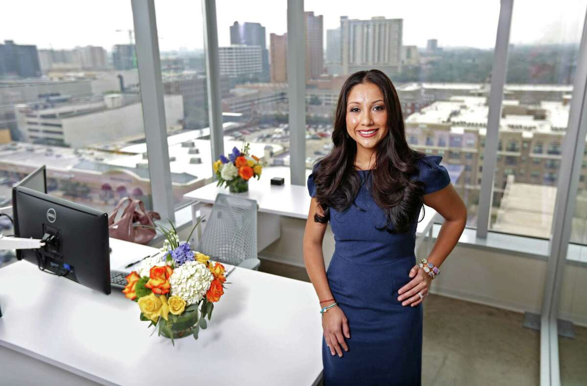Nancy Almodovar, the CEO/ president for Nan and Company Properties, at her office in the BBVA Compass Building Friday, Feb. 6, 2015, in Houston, Texas. ( Gary Coronado / Houston Chronicle )