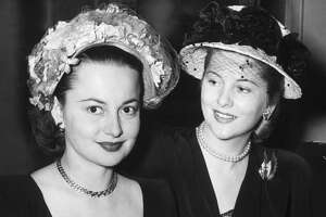 A file photo of sisters Olivia de Havilland and Joan Fontaine.