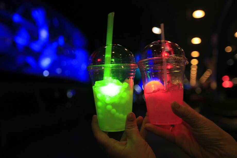 FILE-- The Dark Side drink is pictured in this November 2015 file photo in Disneyland. The Walt Disney Co. has announced it will stop using single-use plastic straws and plastic stirrers at all of its locations. Photo: Allen J. Schaben/LA Times Via Getty Images