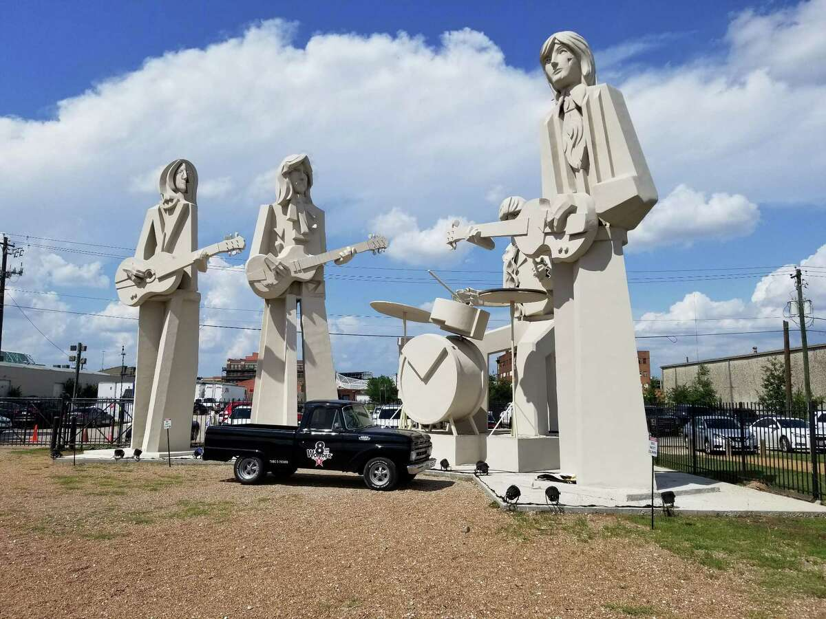 David Adickes' Beatles statues at 8th Wonder.