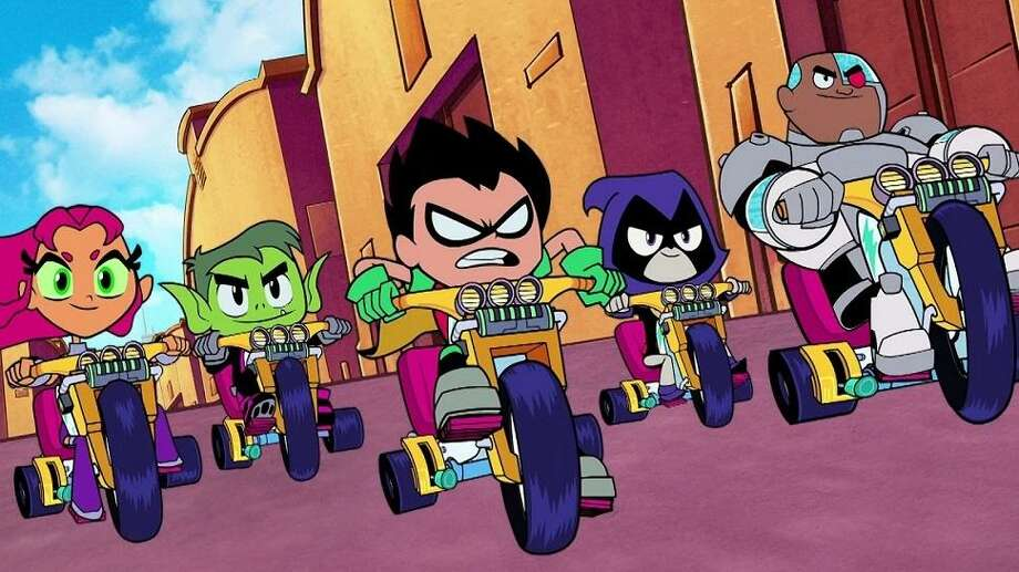 """Teen Titans GO! To the Movies"" is a film based on the television cartoon featuring young version of DC Comics superheroes. Photo: Warner Bros. Animation"