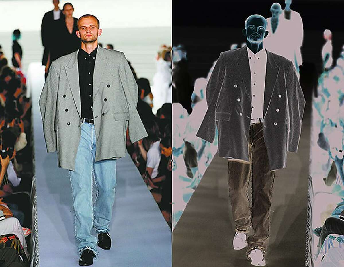 A creation by Vetements during the spring/summer 2019 collection fashion show in Paris on July 1, 2018.