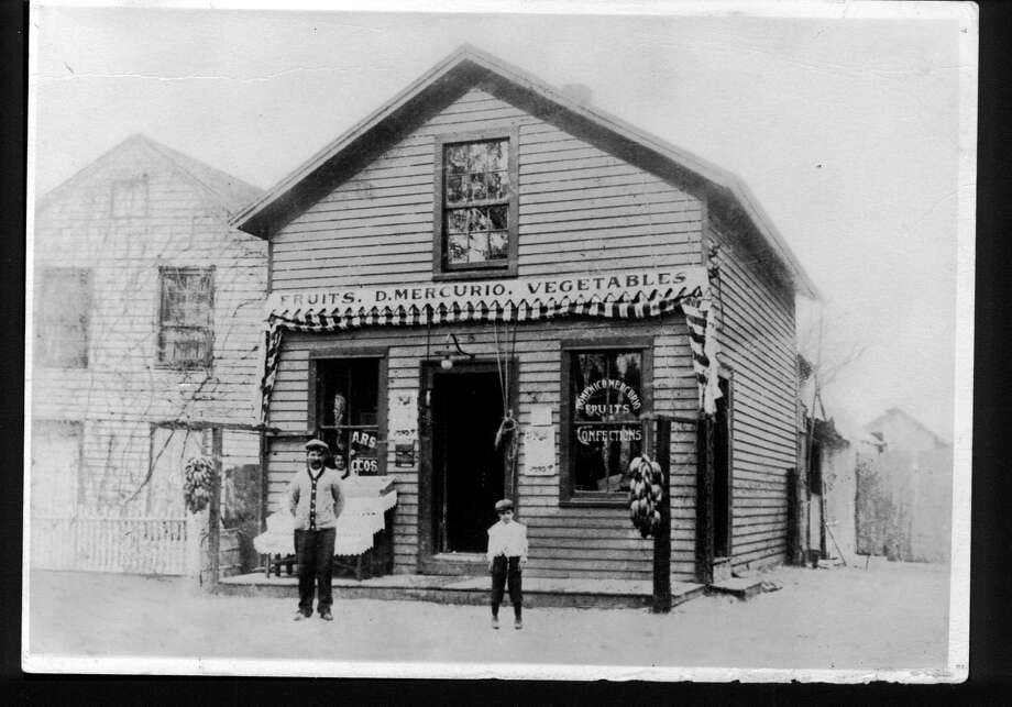 Mercurio's Market in downtown Fairfield. The grocery shop was part of the downtown landscape for more than 100 years and was the oldest continuously operating family-owned business in Fairfield. Photo: Contributed Photo
