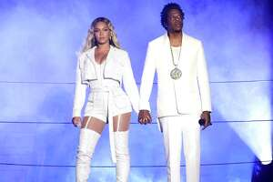 CLEVELAND - JULY 25: Beyonce and Jay-Z perform on the 'On The Run II' tour at First Energy Stadium on July 25, 2018 in Cleveland, Ohio.