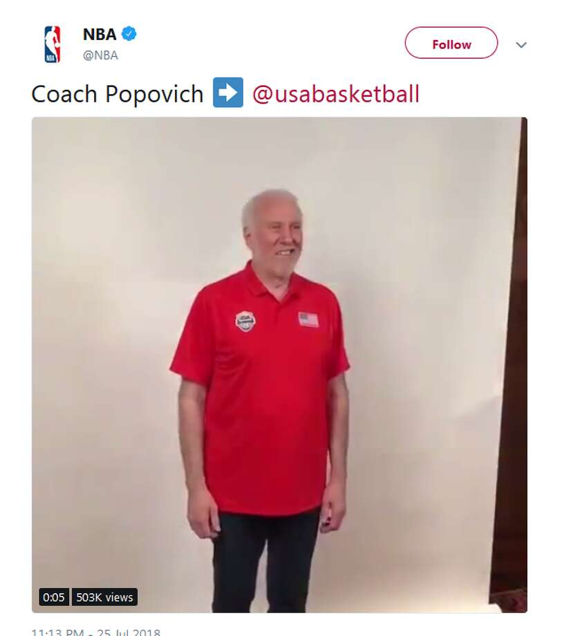 @NBA: Coach Popovich Photo: Twitter Screengrabs