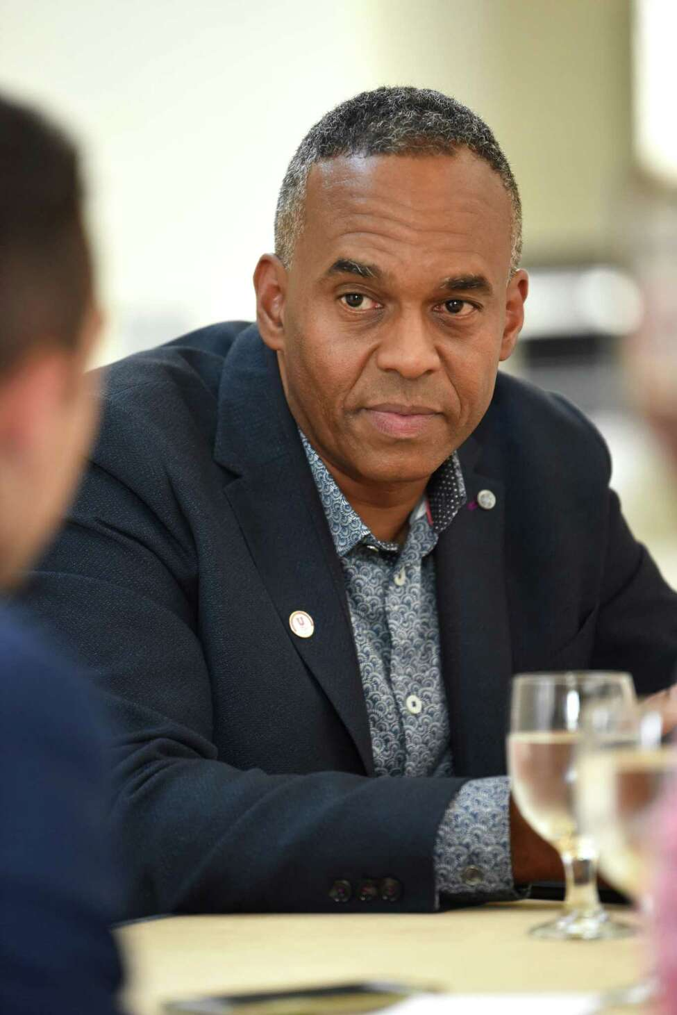 Newly appointed Union College President David Harris is interviewed at Union College on Thursday, July 26, 2018 in Schenectady, N.Y. (Lori Van Buren/Times Union)