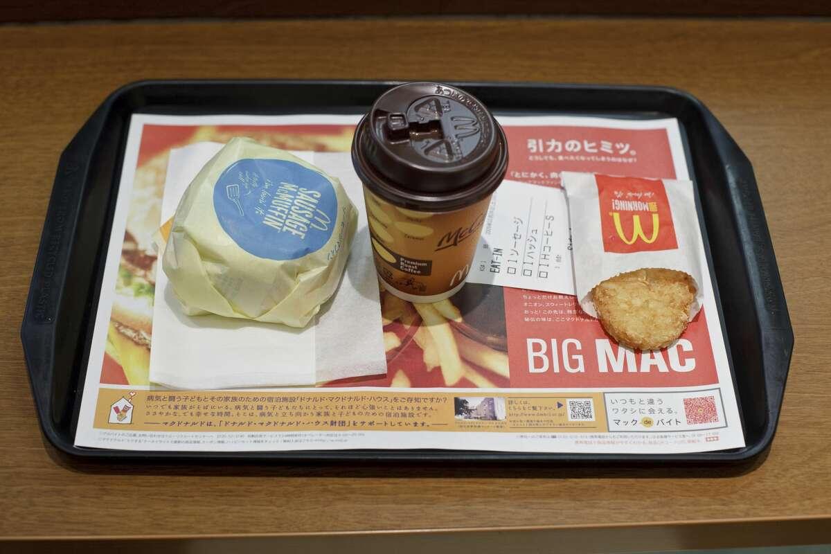 ... 7 McDonald's Sausage McMuffins.