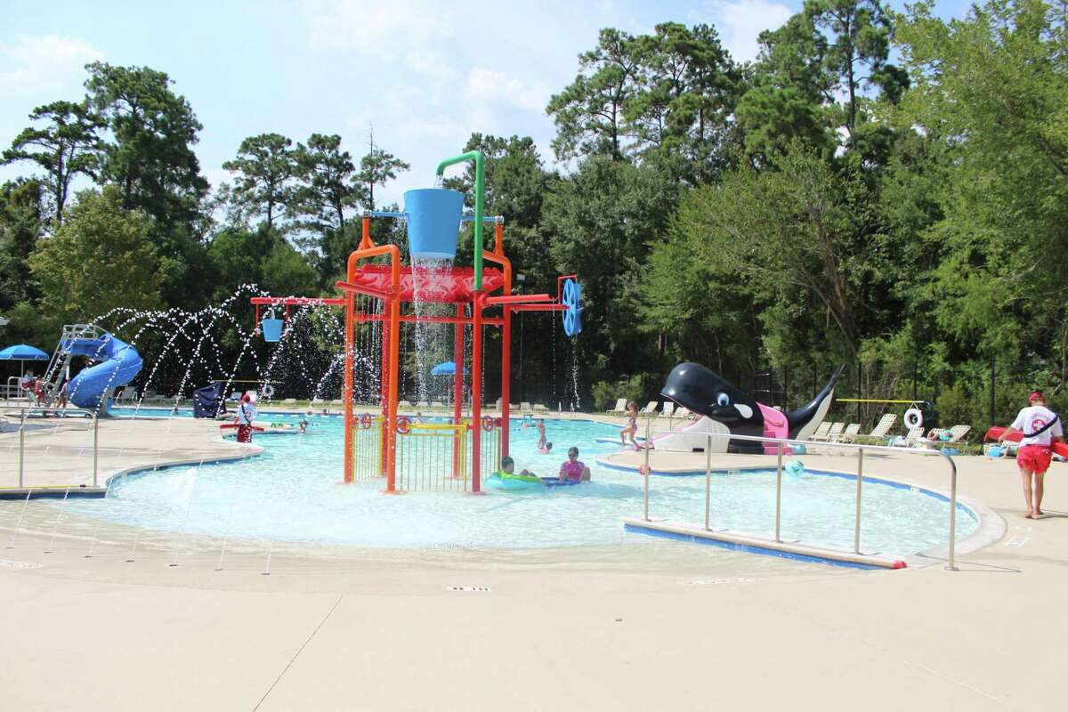 At a free event hosted from 1 to 4 p.m. June 20 at The Woodlands Family YMCA at Branch Crossing, organizations such as the Montgomery County Hospital District and Texas Children's The Woodlands Hospital are showing up to educate parents and children on water safety to prevent these drownings from happening. Here, residents of The Woodlands swim and play in the recently renovated pool at Bear Branch Park on Thursday, July 26, 2018.