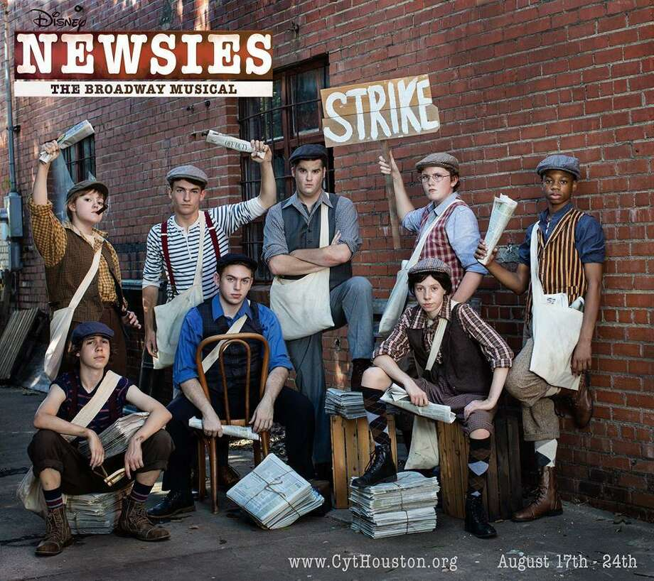 """Christian Community Theatre presents the musical """"Newsies"""" in downtown Conroes Crighton Theatre two weekends Aug. 17-24. Taken from a true story made into a Disney movie, Newsies tells of a strike by young newspaper vendors resulting from a price hike at the turn of the century that that threatened their livelihoods. Photo: Photo By DigiSmiles Photography"""