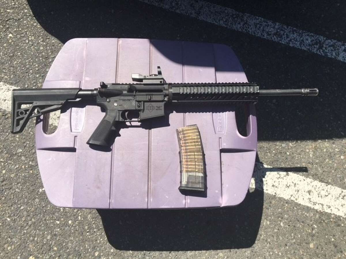 A King County Sheriff's transit deputy killed an 18-year-old man during a scuffle at a Kent parking garage Thursday morning. The man allegedly armed himself with this AR-15 in the moments before the deputy shot him.