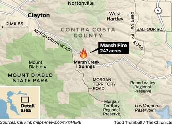 Marsh Fire: Firefighters gain ground in Clayton; 100 homes still at on