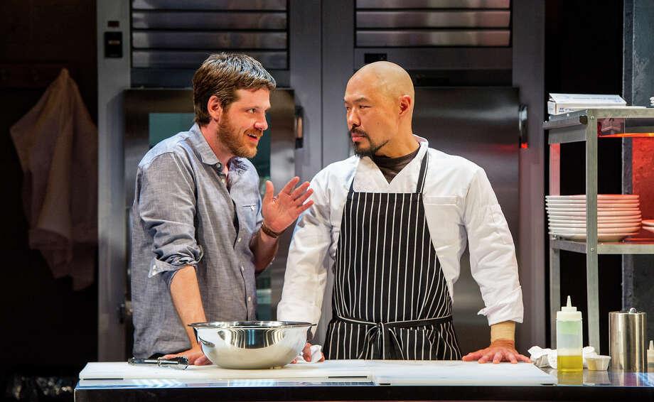 "Michael Esper and Hoon Lee in ""Seared"" at Williamstown Theatre Festival. Photo: Daniel Rader/Williamstown Theatre Festival"