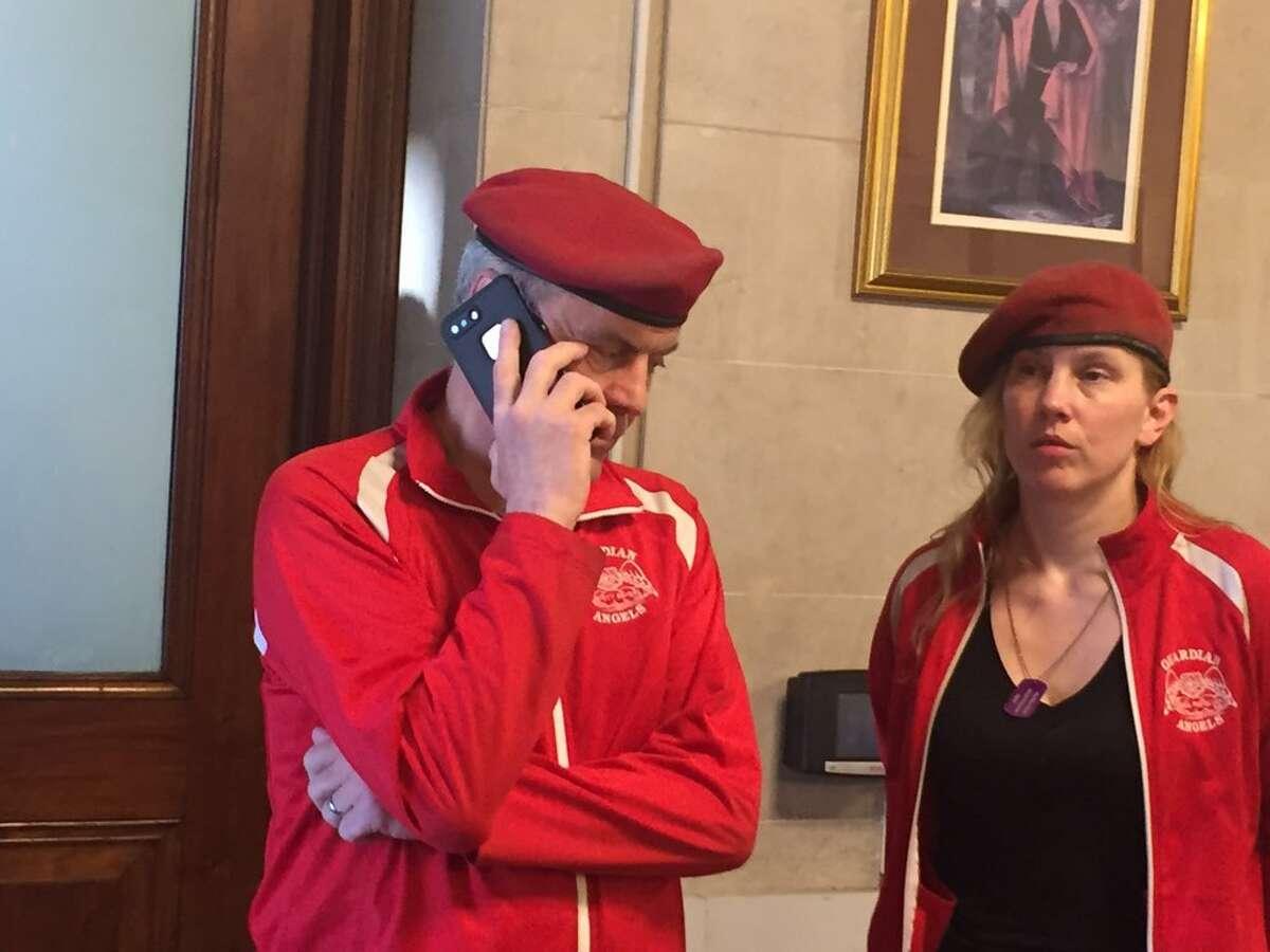 Curtis and Nancy Sliwa visit Albany City Hall Thursday July 26, 2018. (Robert Gavin)