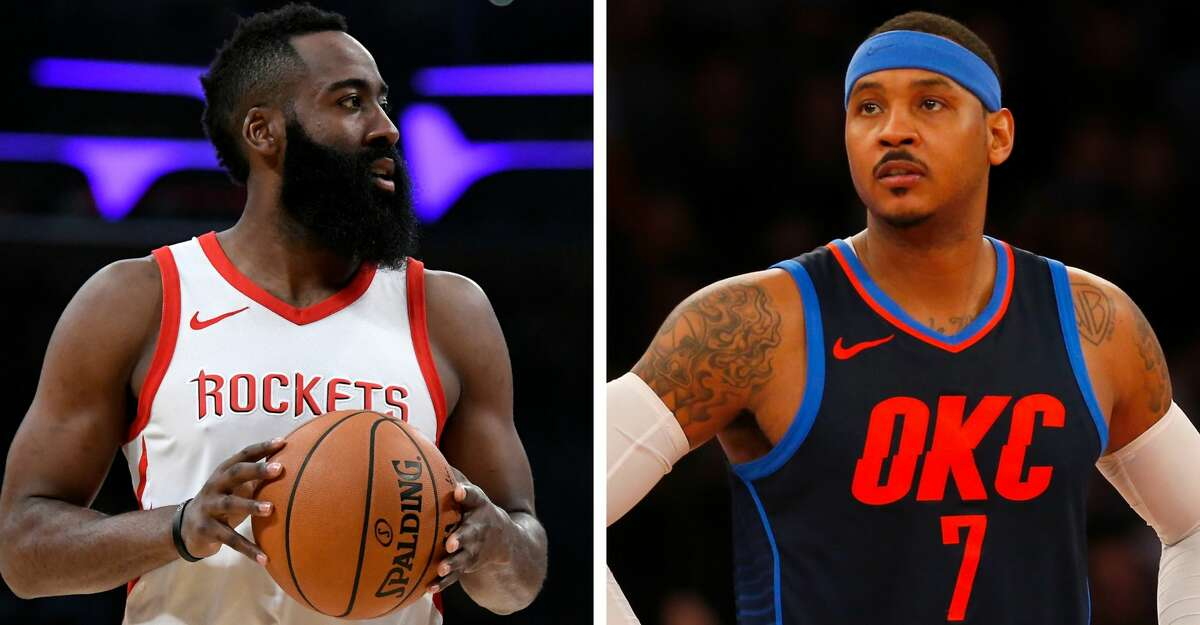 PHOTOS: Carmelo Anthony through the years James Harden compared adding Carmelo Anthony to last season's trade for Chris Paul and the way he and Paul meshed in the Rockets' backcourt.
