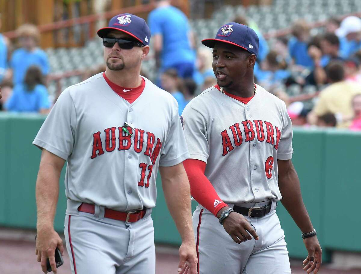 The Auburn Doubledays are among the teams threatened by a planned contraction of minor-league baseball. (Times Union archive)