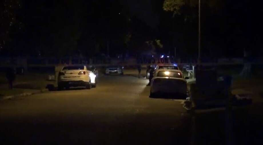 A home invasion suspect was shot in the head by a homeowner on Park Valley in the Katy area, on Friday, July 27, 2018. Photo: Metro Video