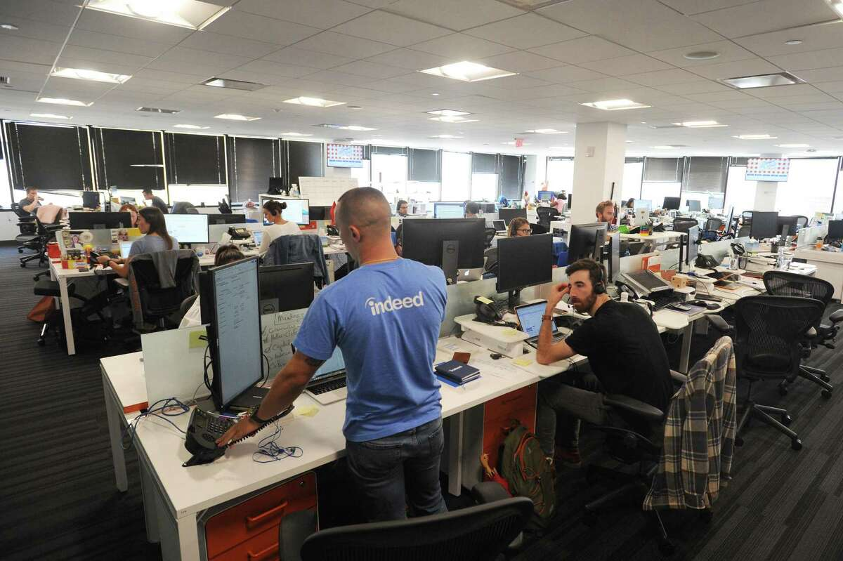 Sales team members work in the Indeed offices at 177 Broad St., in downtown Stamford, Conn., | File photo