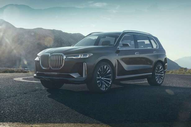 While we don't have a snapshot of the upcoming BMW X7 for you - guests had to relinquish their mobile phones and cameras - the big three-row utility vehicle on hand had 22-inch wheels and looks a lot like the X7 iPerformance concept that BMW unveiled last year. (BMW photo)