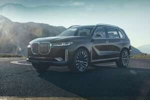 While we don't have a snapshot of the upcoming BMW X7 for you — guests had to relinquish their mobile phones and cameras — the big three-row utility vehicle on hand had 22-inch wheels and looks a lot like the X7 iPerformance concept that BMW unveiled last year. (BMW photo)