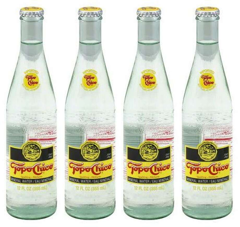 Bottles of Topo Chico mineral water Photo: Topo Chico