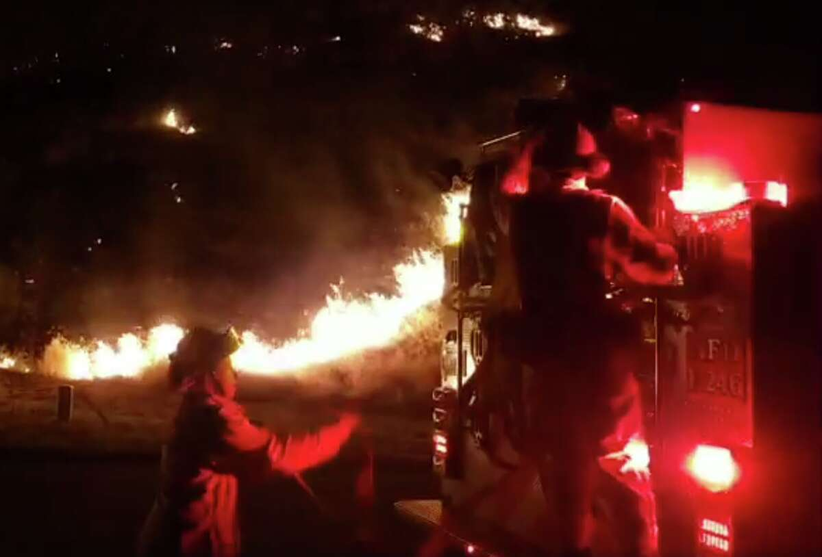 Photographer Matthew Henderson broadcast a Facebook Live video while covering the Carr Fire that struck Redding, California overnight.