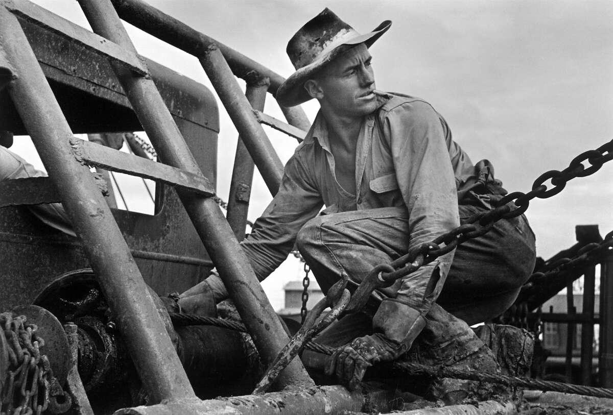 Oilfield worker in Texas. Date: 1937