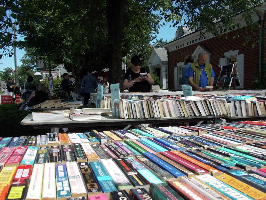 File photo of Kent Memorial Library's annual outdoor book sale. Photo: Lucy Pierpont / Contributed Photo /