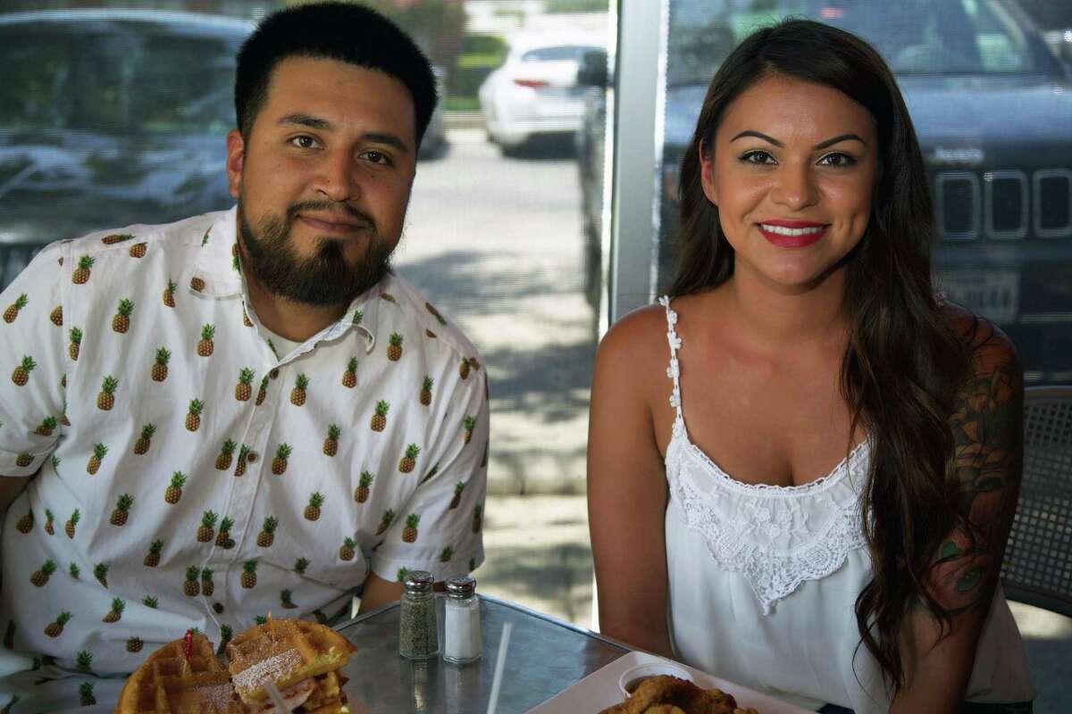 David Arce and Amanda Parra are at The South Chicken & Waffles.