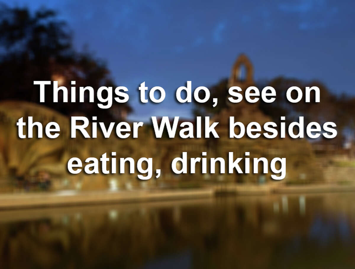 Public art, history and fun events await at the San Antonio River Walk. Click ahead to see all the fun things to do that aren't eating and drinking.
