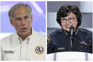 Governor Greg Abbott and challenger Lupe Valdez