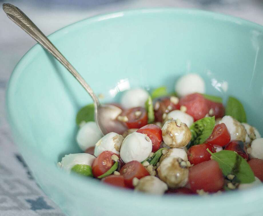 Caprese Salad with Watermelon has a sweet, tangy taste that is perfect for summer. Photo: Gary Griffin / Gary Griffin
