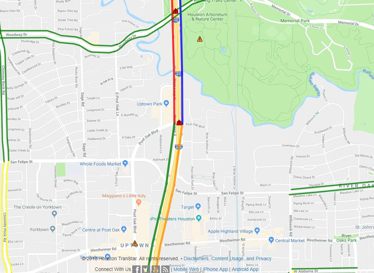 Closure: IH-610 West Loop southbound exit ramp to Post Oak Road (total closure) Ballpark re-opening: End of fall, early winter