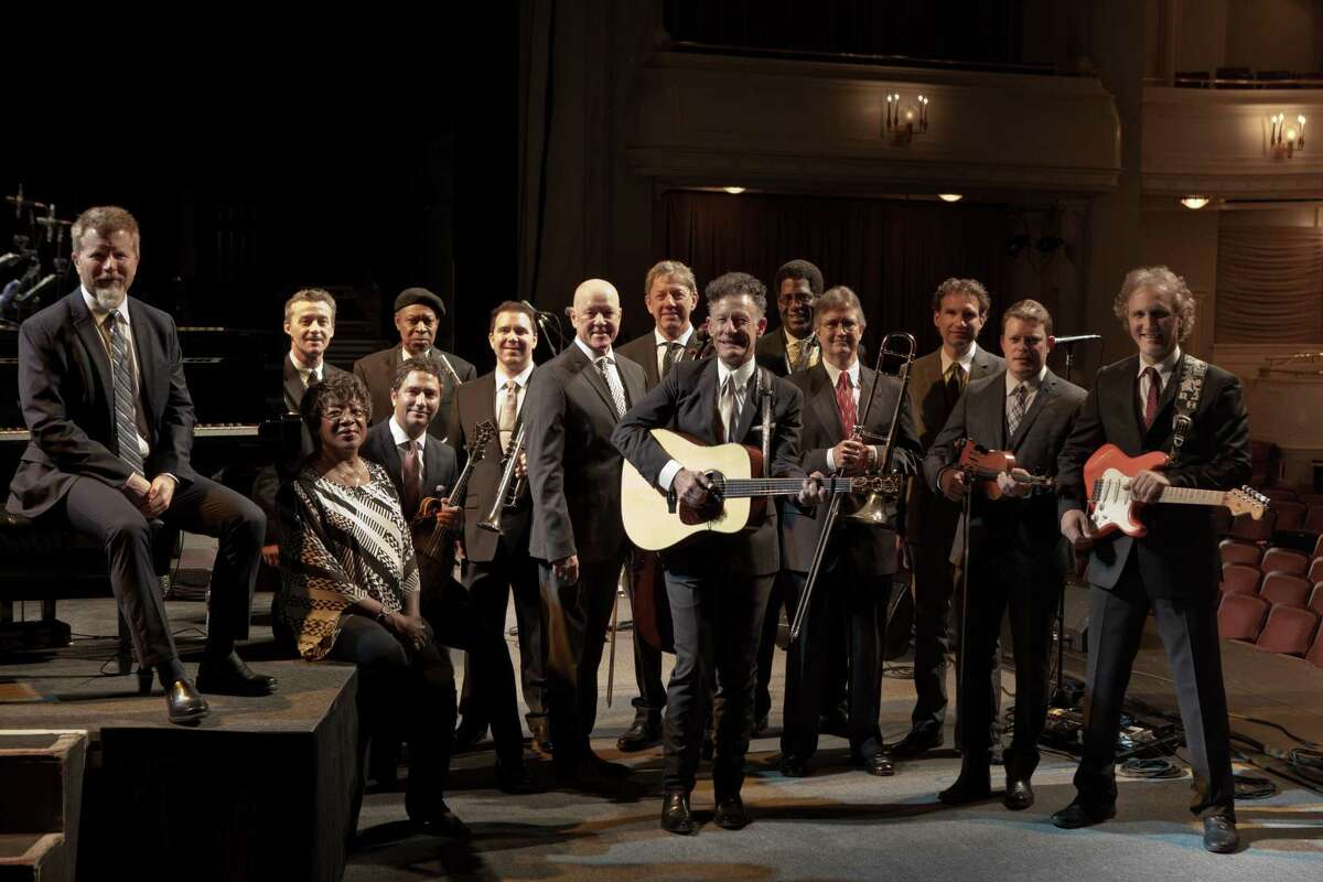 Lyle Lovett and His Large Band perform at The Klein in Bridgeport on Aug. 9.