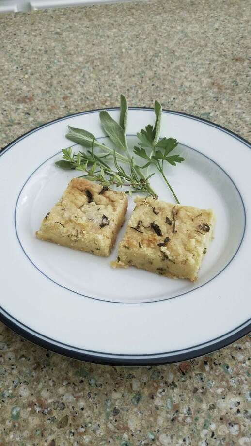 Scarborough Fair Shortbread Squares - a delicious way to use your four basic beginner's herbs.