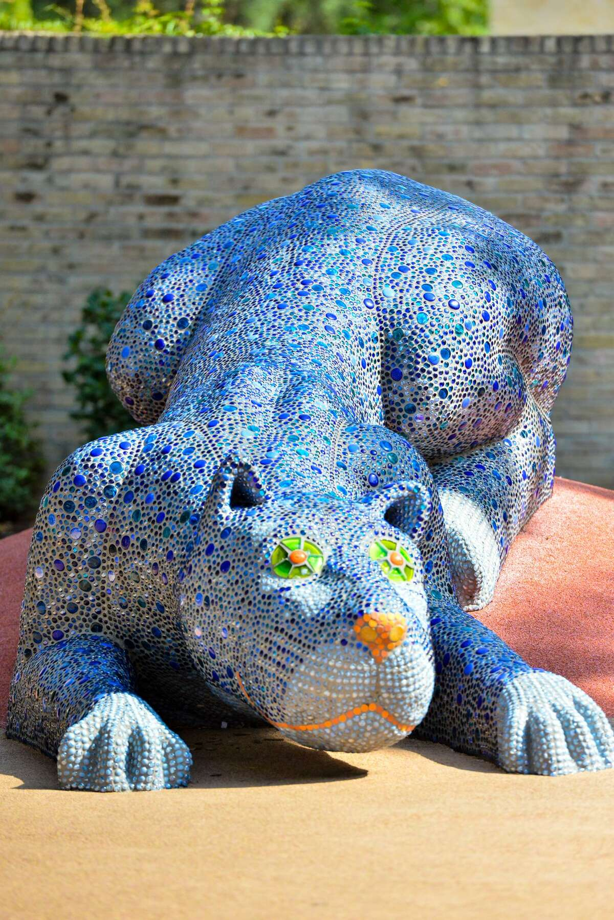 The blue panther that artist Oscar Alvarado created for Yanaguana Garden at Hemisfair is among his best-known works.