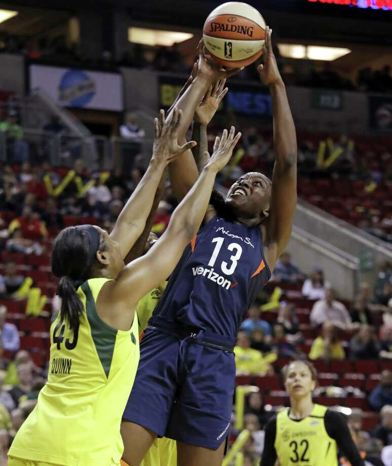 Chiney Ogwumike (13) will be the lone representative from the Connecticut Sun in Saturday's WNBA All-Star game. Photo: Associated Press File Photo / Copyright 2018 The Associated Press. All rights reserved.