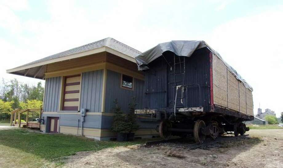The newly-acquired caboose is located outside of the Port Hope Depot Museum. (Rich Harp/For the Tribune)