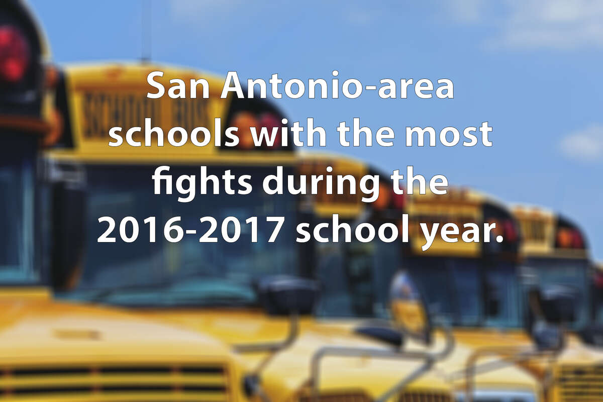 Out of all the schools in Region 20, these 25 schools had the most fighting and mutual combat incidents reported during the 2016-2017 school year. Click ahead to view the San Antonio-area schools with the most fights during the 2016-2017 school year.