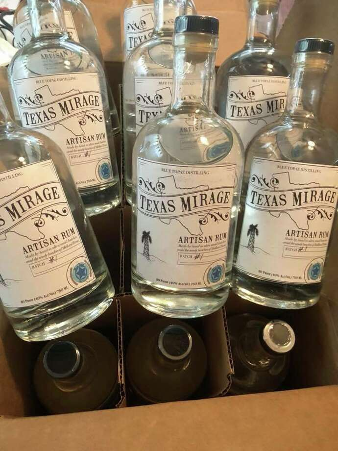 Blue Topaz Distillery's first batch of Texas Mirage rum. Photo: Courtesy Blue Topaz Distillery
