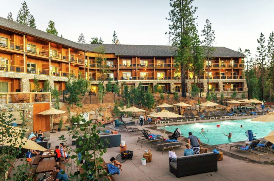 The Rush Creek Lodge at Yosemite is encouraging guest to enjoy its pool and see the many unaffected parts of the National Park. Photo: Rush Creek Lodge