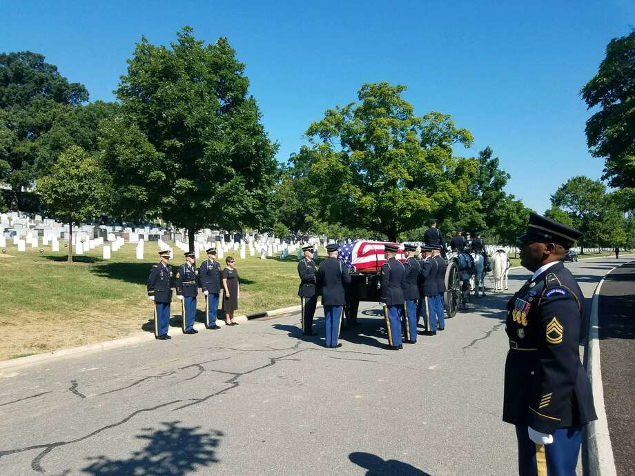 John Canty's funeral at Arlington National Cemetery. Photo: Contributed Photo / Wayne Brazeau Jr.