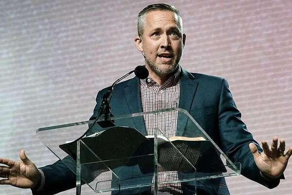 J.D. Greear speaks during a pastor's conference in June at the Kay Bailey Hutchison Convention Center in Dallas.