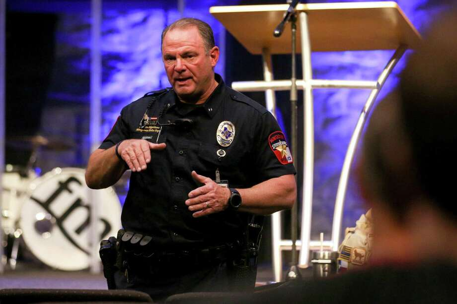 Montgomery Police Chief Jim Napolitano speaks during a past town hall between law enforcement and church leaders on church security Tuesday, Nov. 14, 2017, at Fellowship of Montgomery Church. Photo: Michael Minasi, Staff Photographer / Houston Chronicle / © 2017 Houston Chronicle