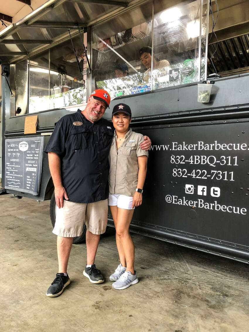 Eaker Barbecue is a six-month-old food truck owned by husband-and-wife team of Lance and Boo Eaker. In October 2017 Lance left his job as an information technology consultant to start laying the groundwork for Eaker Barbecue.