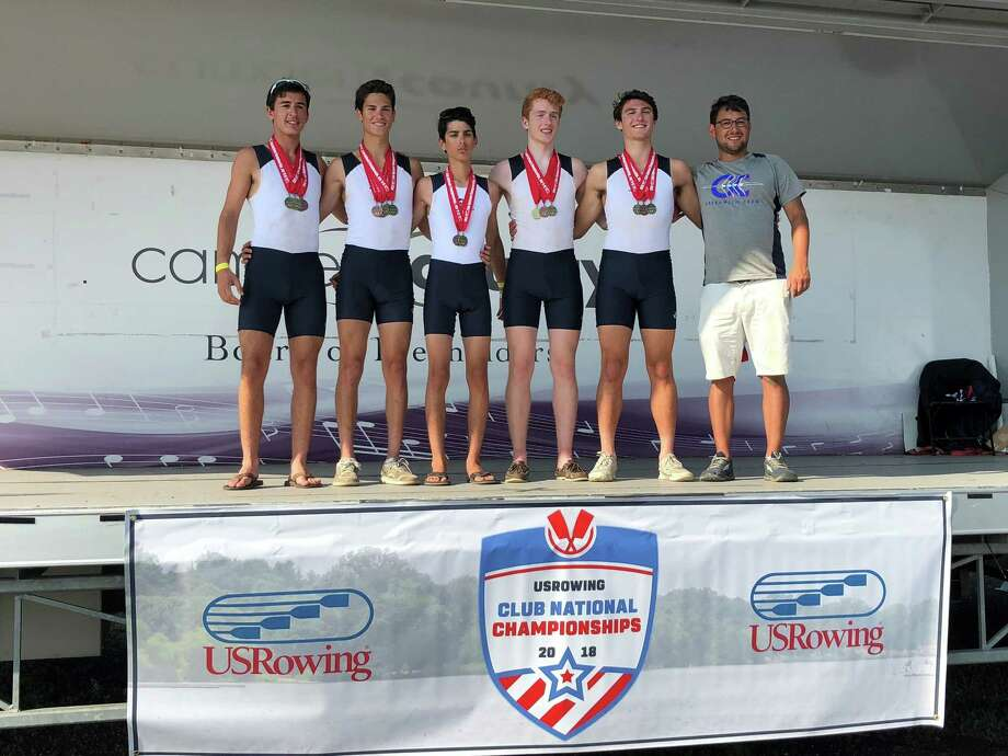 Greenwich Crew captured two first-place medals at the USRowing Club National Championships recently on the Cooper River in Camden, N.J. Photo: Contributed Photo