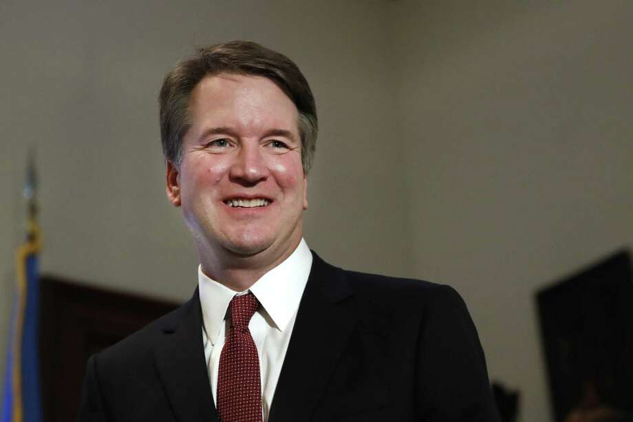 "In this July 26, 2018, photo, Supreme Court nominee Judge Brett Kavanaugh meets with Sen. Jim Inhofe, R-Okla., on Capitol Hill in Washington. More than a decade after he served as what's been called the president's ""inbox and outbox,"" Kavanaugh's role as White House staff secretary to President George W. Bush has become a flashpoint as Republicans push his confirmation to the Supreme Court. (AP Photo/Jacquelyn Martin) Photo: Jacquelyn Martin / Associated Press / Copyright 2018 The Associated Press. All rights reserved."