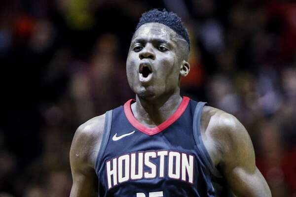 Rockets center Clint Capela averaged 13.9 points and 10.8 rebounds this past season.