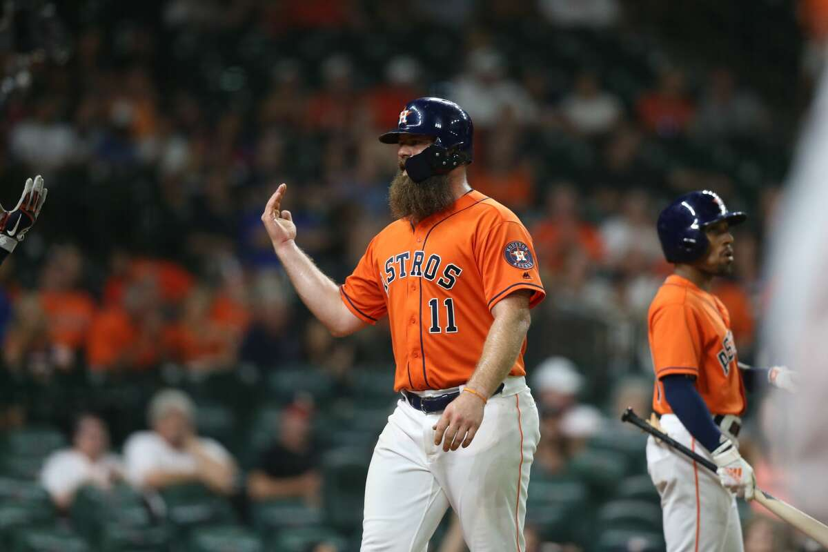Houston Astros host Texas Rangers at Minute Maid Park on Friday, July 27, 2018 in Houston. Rangers won the game 11-2.