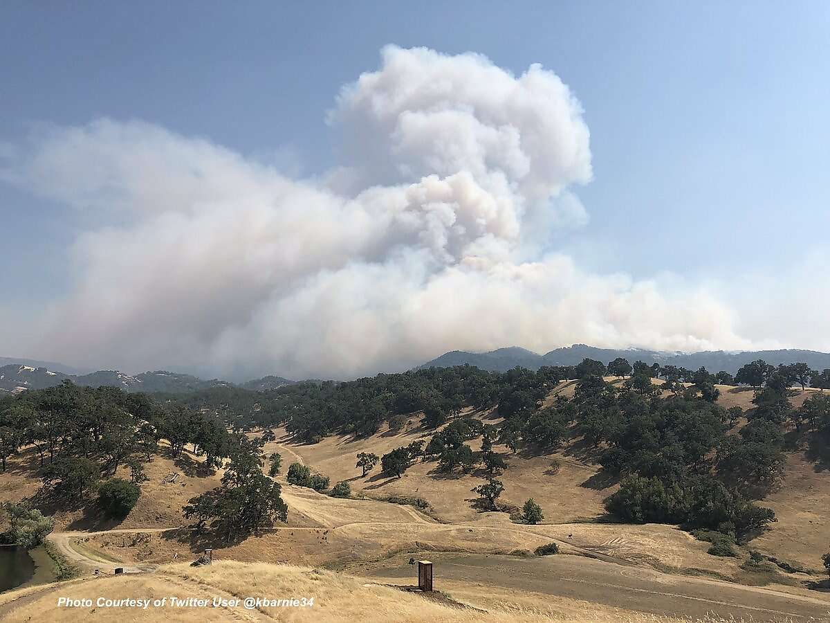 Seven firefighters were injured while battling two blazes that broke out within an hour of each other and scorched nearly a total of 10,000 acres in Mendocino County, officials said Saturday.